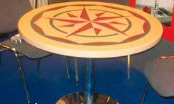 Цветные столы из Corian